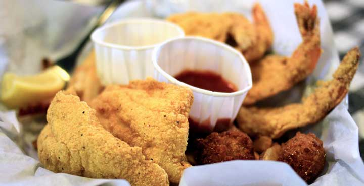 Flying Fish Catfish Shrimp Oysters Crab Gumbo Po Boys Grilled And More